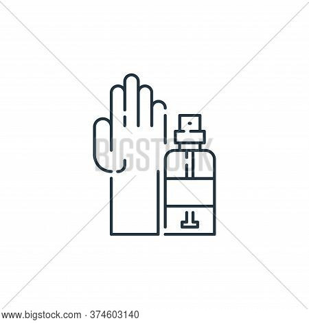 hand sanitizer icon isolated on white background from virus transmission collection. hand sanitizer