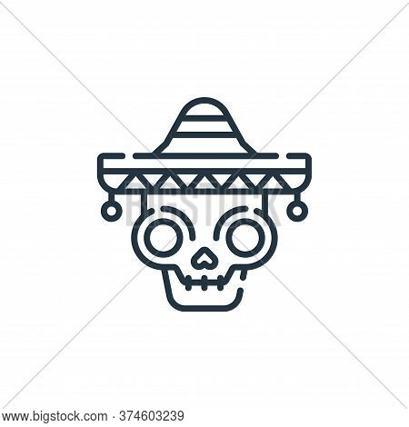 skull icon isolated on white background from mexico collection. skull icon trendy and modern skull s