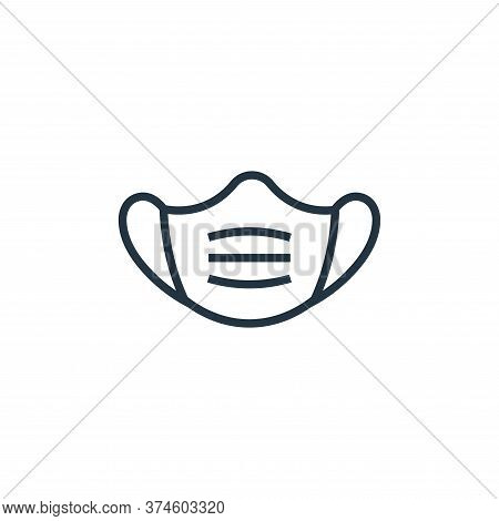 face mask icon isolated on white background from pandemic novel virus collection. face mask icon tre