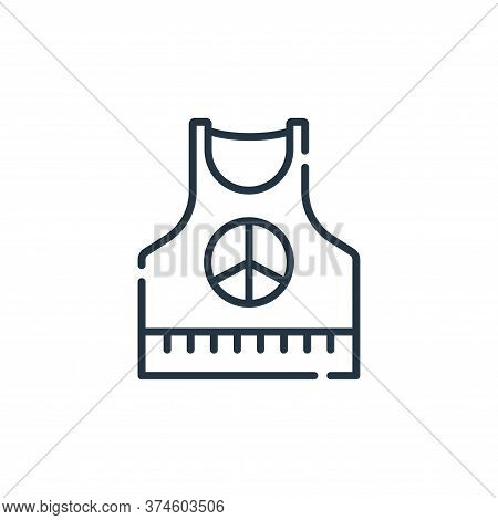 sleeveless shirt icon isolated on white background from hippies collection. sleeveless shirt icon tr