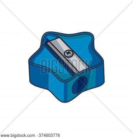 Pencil Sharpener On A White Isolated Background. Vector Illustration.