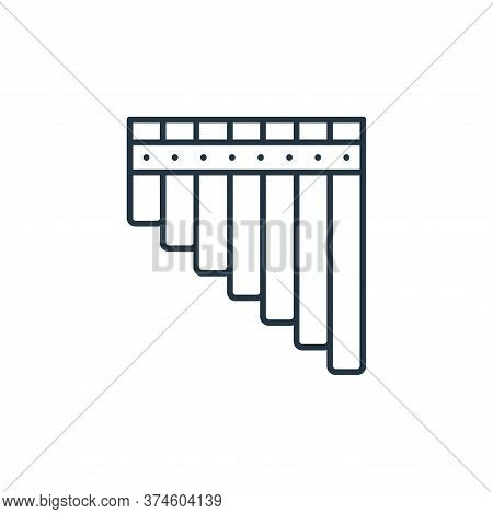 pan flute icon isolated on white background from music instruments collection. pan flute icon trendy