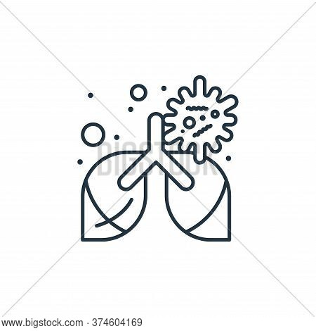 lungs icon isolated on white background from coronavirus collection. lungs icon trendy and modern lu