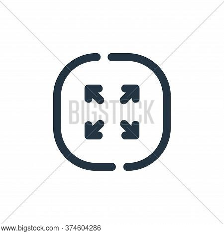 resize icon isolated on white background from multimedia collection. resize icon trendy and modern r