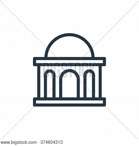 bank icon isolated on white background from banking and finance flat icons collection. bank icon tre