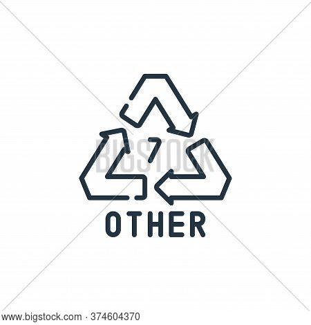 recycle icon isolated on white background from plastic products collection. recycle icon trendy and