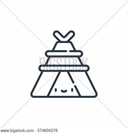 tent icon isolated on white background from desert collection. tent icon trendy and modern tent symb