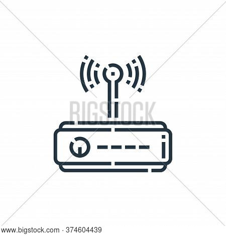 wifi router icon isolated on white background from videoblogger collection. wifi router icon trendy