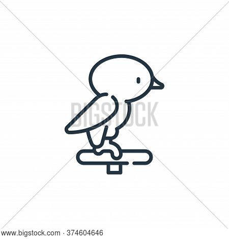 bird icon isolated on white background from pets collection. bird icon trendy and modern bird symbol