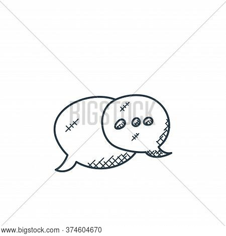 conversation icon isolated on white background from technology collection. conversation icon trendy