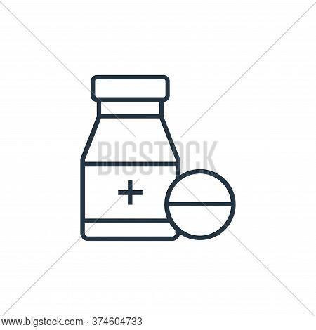 medicine icon isolated on white background from medical tools collection. medicine icon trendy and m