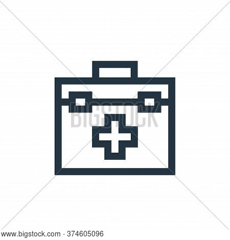 first aid kit icon isolated on white background from charity collection. first aid kit icon trendy a
