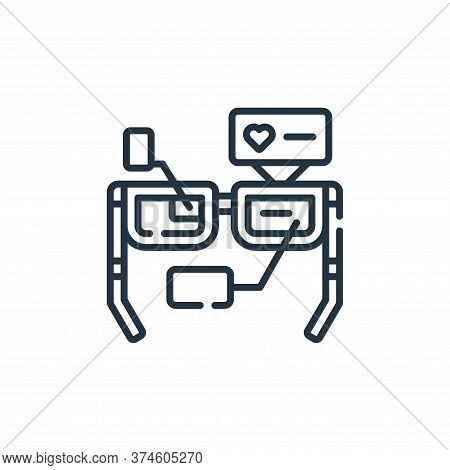 augmented reality icon isolated on white background from robotics collection. augmented reality icon