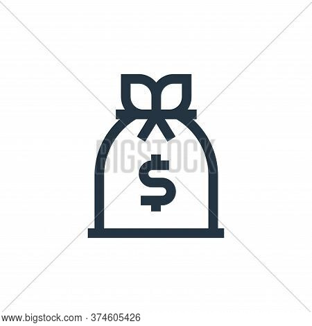 money bag icon isolated on white background from united states of america collection. money bag icon