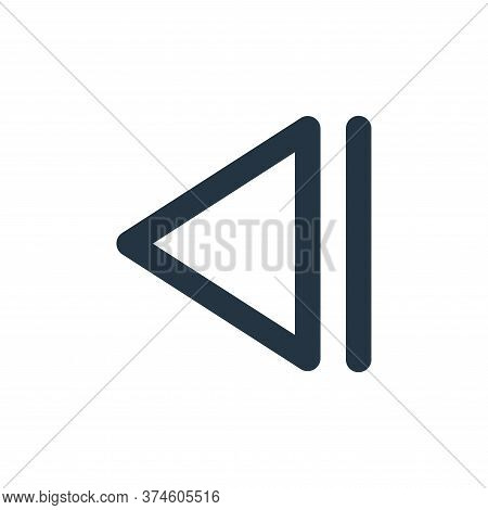 previous track icon isolated on white background from user interface collection. previous track icon