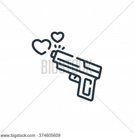 gun icon isolated on white background from hope collection. gun icon trendy and modern gun symbol fo