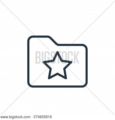 starred icon isolated on white background from folder collection. starred icon trendy and modern sta