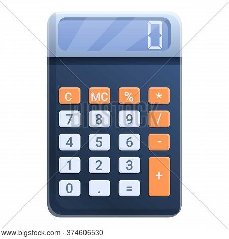 Calculator Icon. Cartoon Of Calculator Vector Icon For Web Design Isolated On White Background