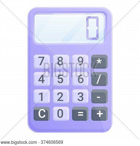 Money Calculator Icon. Cartoon Of Money Calculator Vector Icon For Web Design Isolated On White Back