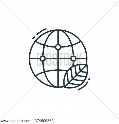 ecology icon isolated on white background from environment and eco collection. ecology icon trendy a
