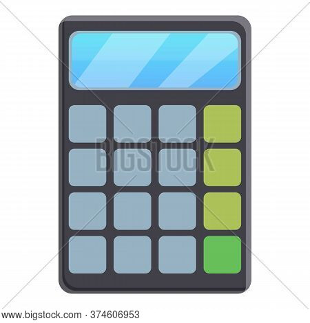 Lesson Calculator Icon. Cartoon Of Lesson Calculator Vector Icon For Web Design Isolated On White Ba