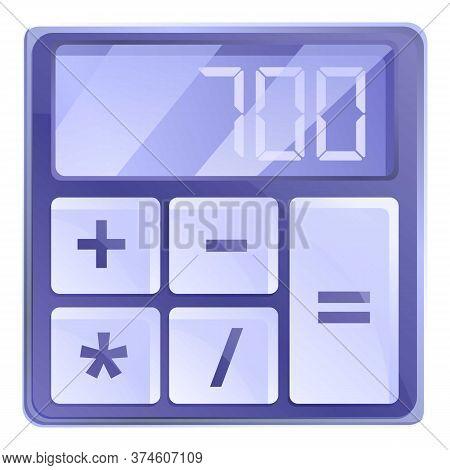 Big Button Calculator Icon. Cartoon Of Big Button Calculator Vector Icon For Web Design Isolated On