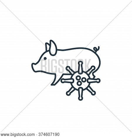 pig icon isolated on white background from coronavirus collection. pig icon trendy and modern pig sy