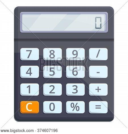 Data Calculator Icon. Cartoon Of Data Calculator Vector Icon For Web Design Isolated On White Backgr