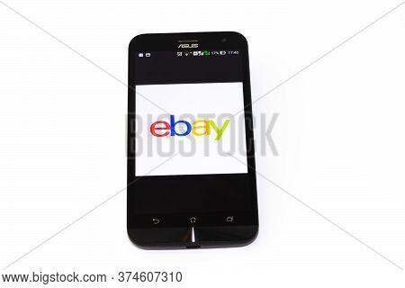 Kouvola, Finland - 23 January 2020: Ebay App Logo On The Screen Of Smartphone Asus