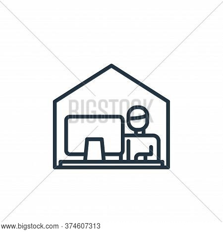 working icon isolated on white background from virus collection. working icon trendy and modern work