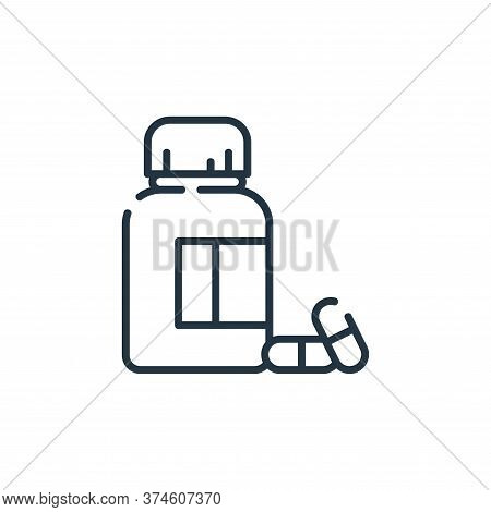 pills icon isolated on white background from dental care collection. pills icon trendy and modern pi