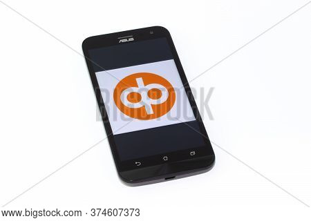 Kouvola, Finland - 23 January 2020: Op-mobiili App Logo On The Screen Of Smartphone Asus