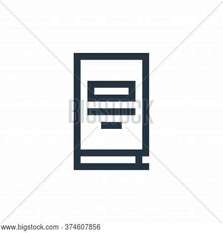 book icon isolated on white background from job resume collection. book icon trendy and modern book