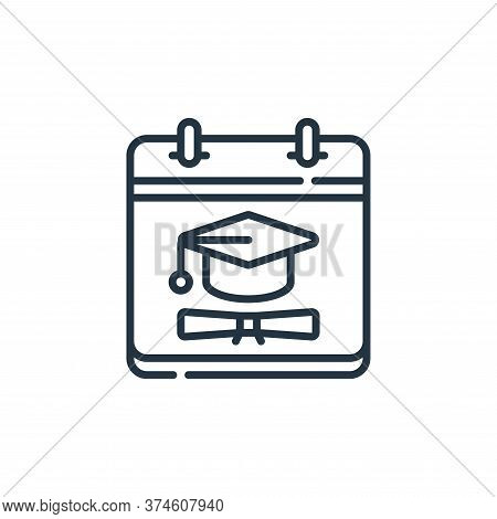 graduation icon isolated on white background from calendar and date collection. graduation icon tren