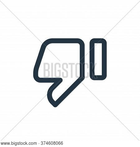 dislike icon isolated on white background from user interface collection. dislike icon trendy and mo