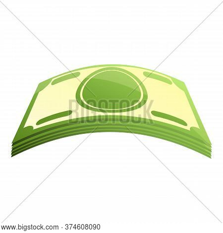 Cash Money Pack Icon. Cartoon Of Cash Money Pack Vector Icon For Web Design Isolated On White Backgr