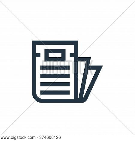 newspaper icon isolated on white background from news collection. newspaper icon trendy and modern n