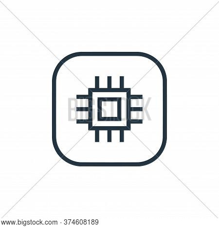 cpu icon isolated on white background from hardware and gadgets collection. cpu icon trendy and mode