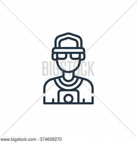 paparazzi icon isolated on white background from fame collection. paparazzi icon trendy and modern p