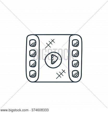 film strip icon isolated on white background from technology collection. film strip icon trendy and
