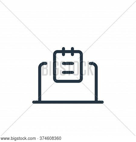 laptop icon isolated on white background from work office supply collection. laptop icon trendy and