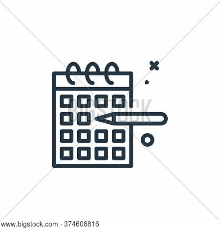 calendar icon isolated on white background from work from home collection. calendar icon trendy and