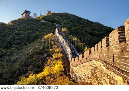 Beijing / China - October 11, 2018: Juyongguan, Juyong Pass Of The Great Wall Of China In The Changp