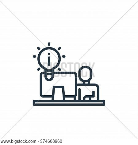 idea icon isolated on white background from elearning collection. idea icon trendy and modern idea s