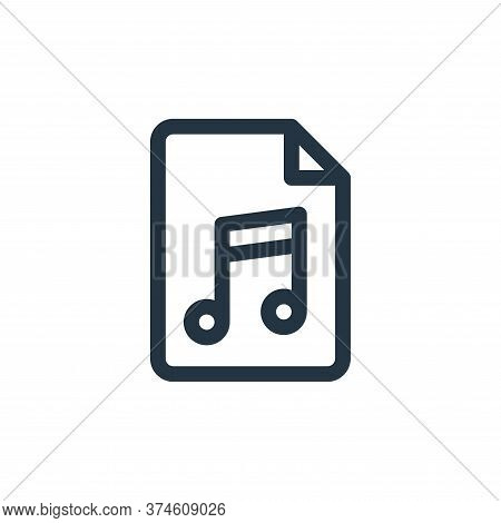 music icon isolated on white background from document and files collection. music icon trendy and mo