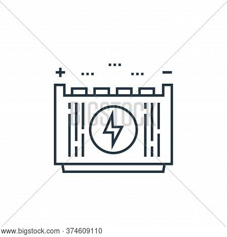battery icon isolated on white background from technology devices collection. battery icon trendy an