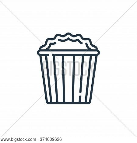 popcorn icon isolated on white background from fame collection. popcorn icon trendy and modern popco