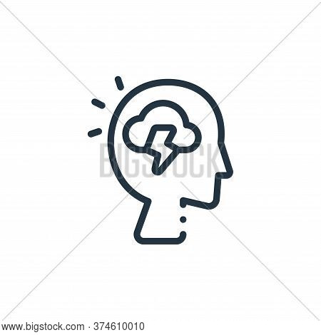 head icon isolated on white background from design thinking collection. head icon trendy and modern