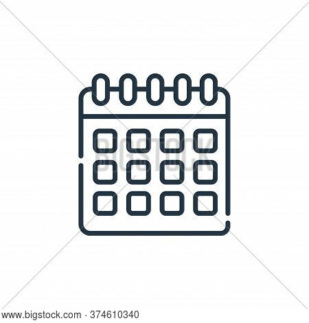 calendar icon isolated on white background from telecommuting collection. calendar icon trendy and m