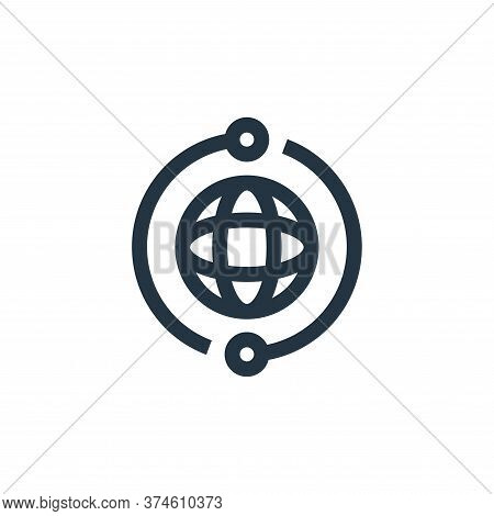 internet icon isolated on white background from marketing and growth collection. internet icon trend